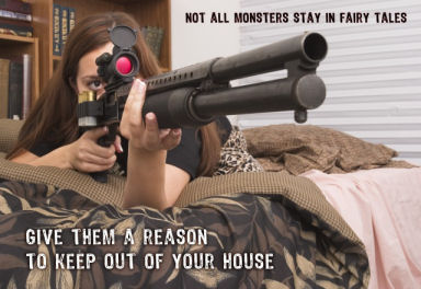 """Not all monsters stay in fairy tales."" Image courtesy Oleg Volk, www.a-human-right.com. Used by permission."