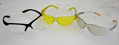 Inexpensive safety glasses.