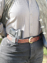 Kydex holster, appendix carry. Image courtesy Bob Jackson