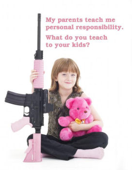 My parents teach me personal responsibility. Image courtesy Oleg Volk of www.olegvolk.net