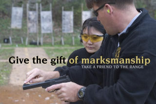 """Give the gift of marksmanship. Take a friend to the range."" Image courtesy of www.olegvolk.net"