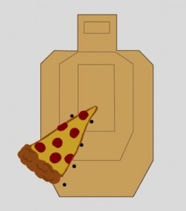 Pizza-slice patterns are caused by sudden trigger yanks and by flinch. These are two separate problems with different solutions.