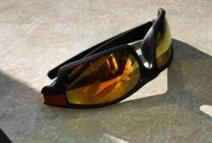 Dropped on the table while you're eating, the reflective surface on mirrored sunglasses help you easily see what's going on around you.