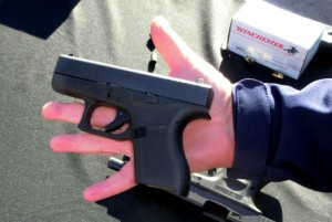 A Glock in the hand ...