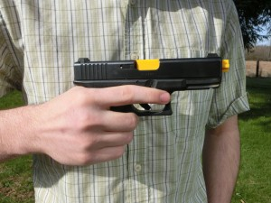 A common way self-taught shooters take their fingers off the trigger.