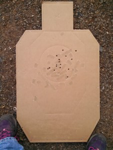 Target shot on the moving target system from 7 yards.