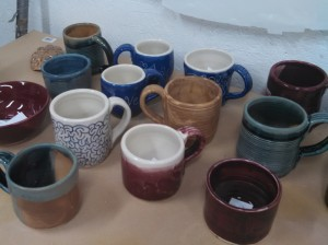 Handmade pottery, by a dabbler.