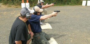 Under the watchful eye of instructors who give immediate feedback, students learn to shoot safely from unconventional positions.